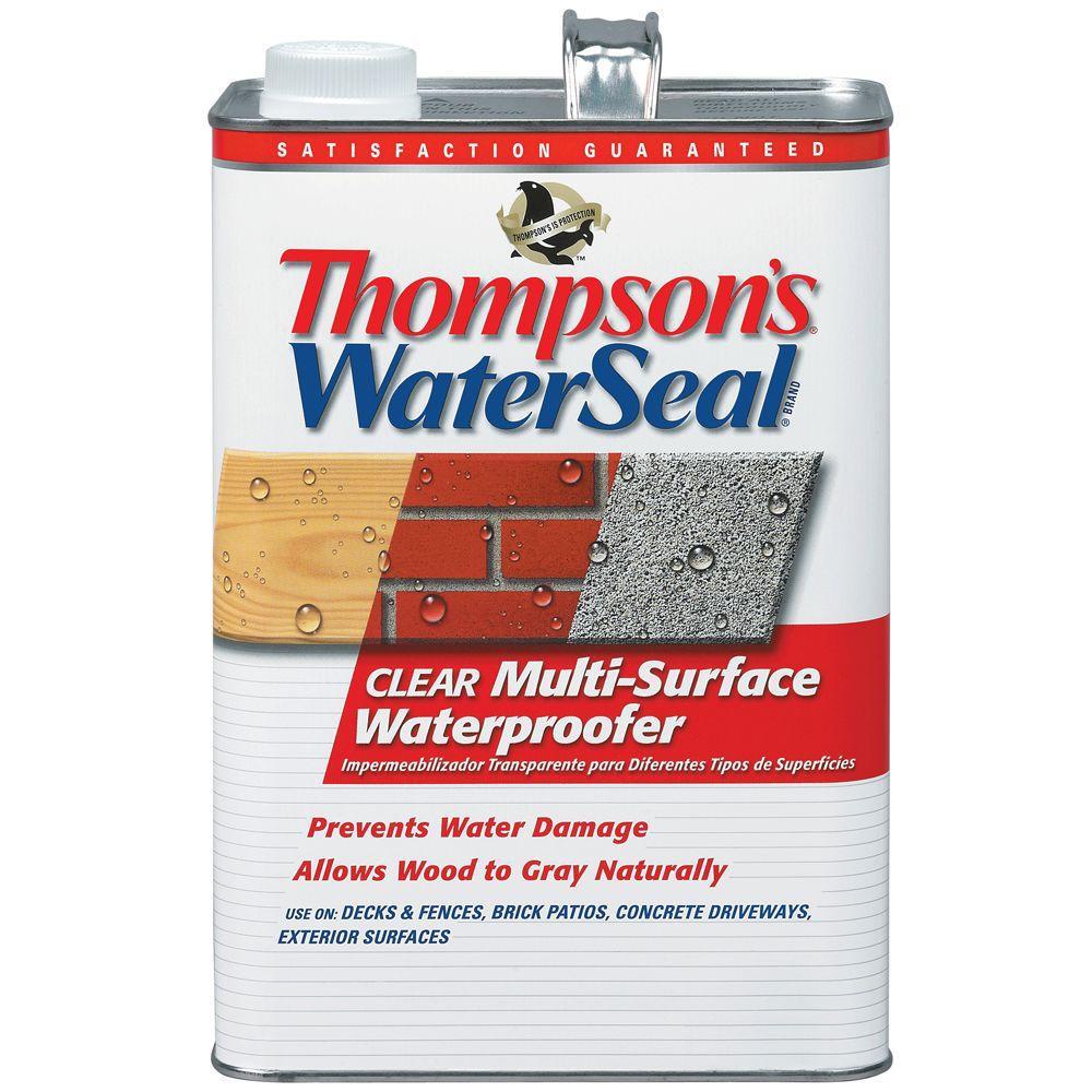 1 gal. Clear Multi-Surface Waterproofer Exterior Sealer (4-Pack)