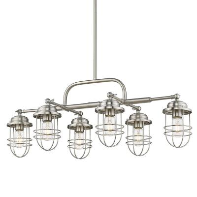Seaport 6-Light Silver Linear Pendant