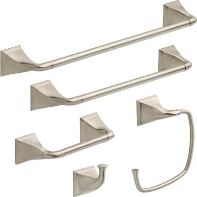 Everly 5-Piece Bath Hardware Set in SpotShield Brushed Nickel