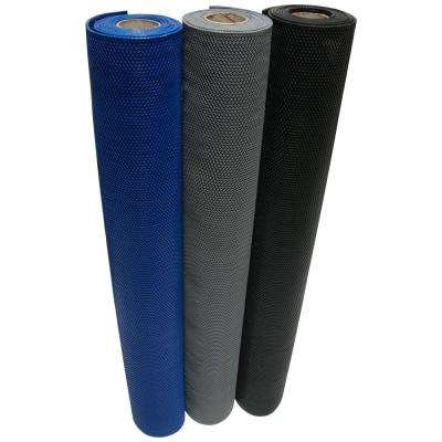 S-Grip Black 4 ft. x 25 ft. PVC Drainage Mat