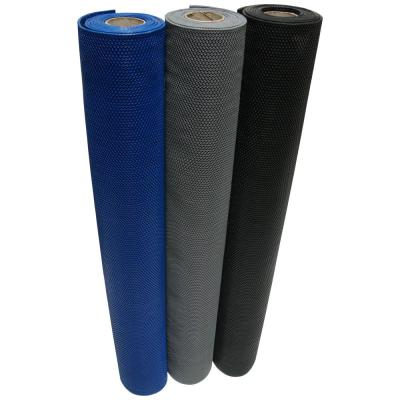 S-Grip Gray 4 ft. x 25 ft. PVC Drainage Mat