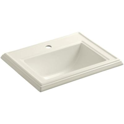 Memoirs Drop-In Vitreous China Bathroom Sink in Biscuit with Overflow Drain