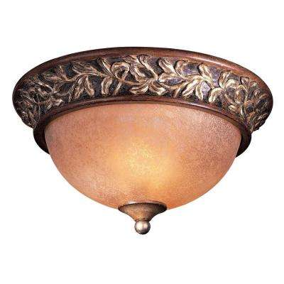 Salon Grand 2-Light Florence Patina Flushmount