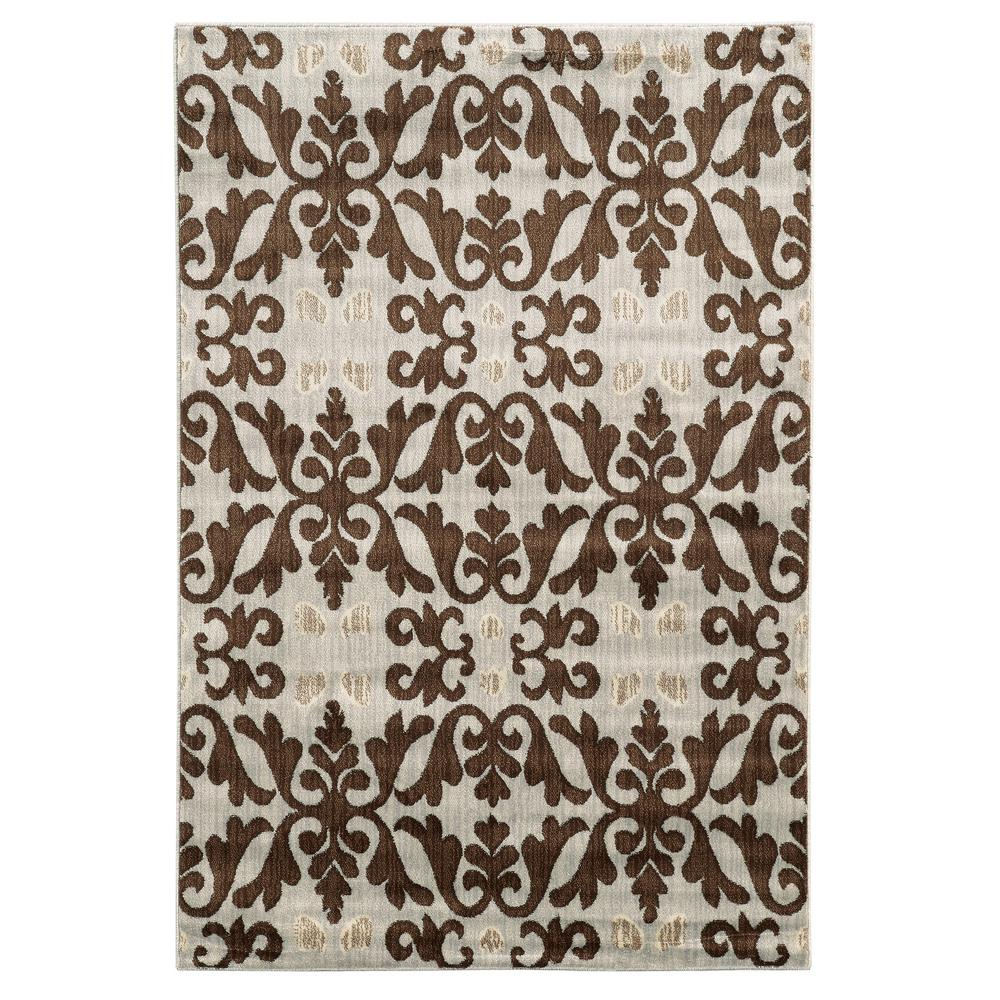 Linon Home Decor Empire Florence Ivory 2 Ft. X 3 Ft. Area Rug