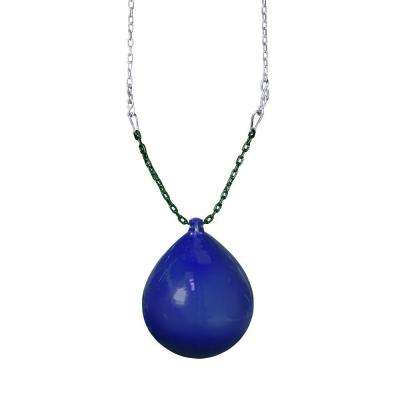 Blue Buoy Ball with Chain and Spring Clips