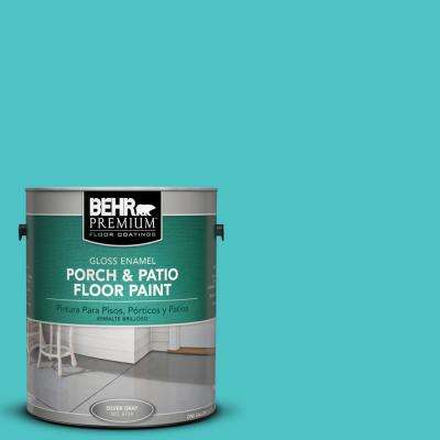 1 gal. #500B-4 Gem Turquoise Gloss Interior/Exterior Porch and Patio Floor Paint