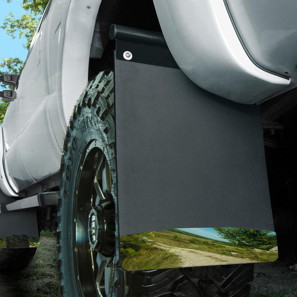 Black Wt Universal 17006 Husky Liners Removable Mud Flaps 14IN