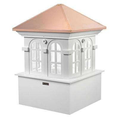 Smithsonian Chesapeake 48 in. x 70 in. Vinyl Cupola with Copper Roof