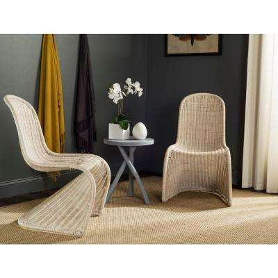 Tana Grey Rattan Dining Chair (Set of 2)