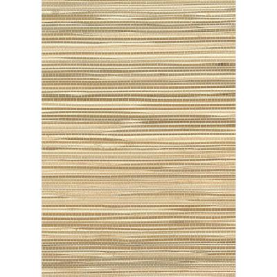 Wheat and Off-White Boodle Grass Wallpaper