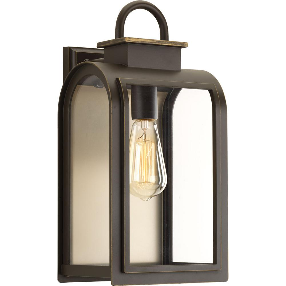 Progress Lighting Refuge Collection 1 Light Oil Rubbed Bronze 16 In Outdoor Wall Lantern Sconce