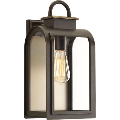 Refuge Collection 1-Light Oil Rubbed Bronze 16 in. Outdoor Wall Lantern Sconce