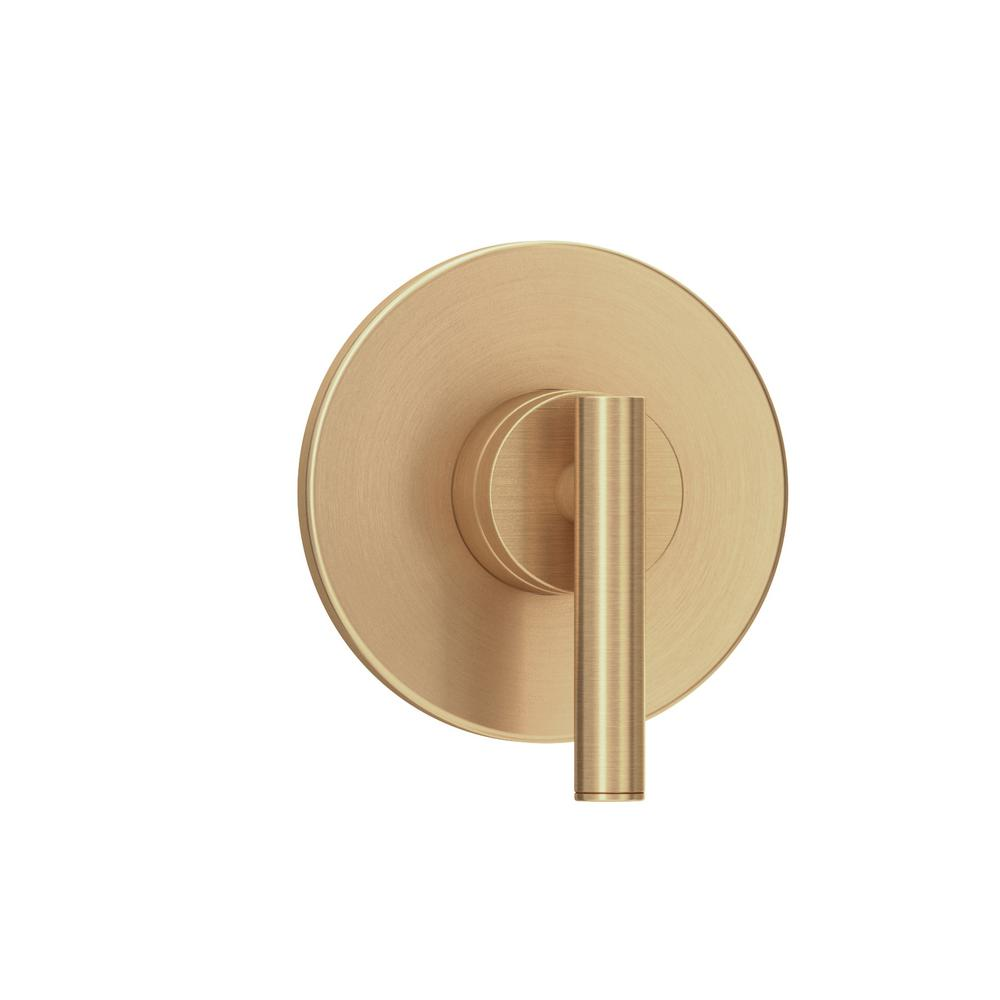 Dia 1-Handle Wall-Mounted Diverter Valve Trim Kit in Brushed Bronze (Valve