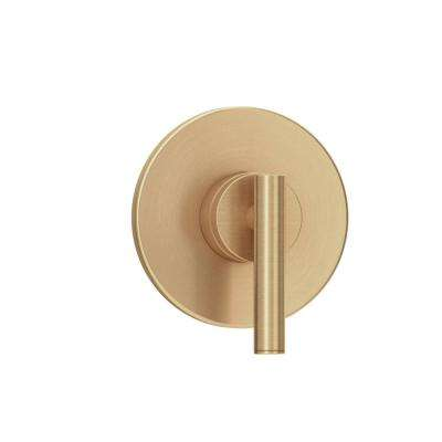 Dia 1-Handle Wall-Mounted Diverter Valve Trim Kit in Brushed Bronze (Valve Not Included)