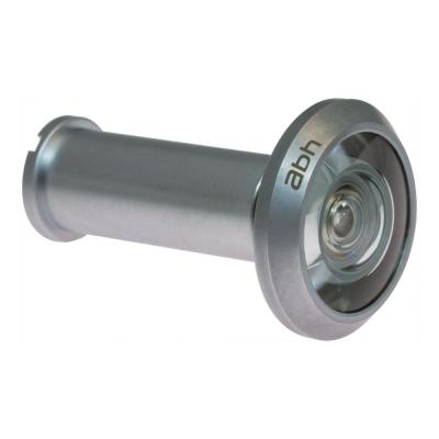190-Degree Satin Chrome Door Viewer with Glass Lenses, UL Fire-proof