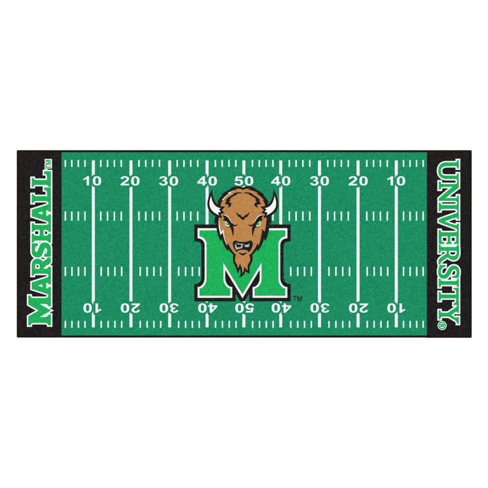 Nebraska Cornhuskers Blackshirts Football Field Runner Rug: FANMATS Marshall University 2 Ft. 6 In. X 6 Ft. Football