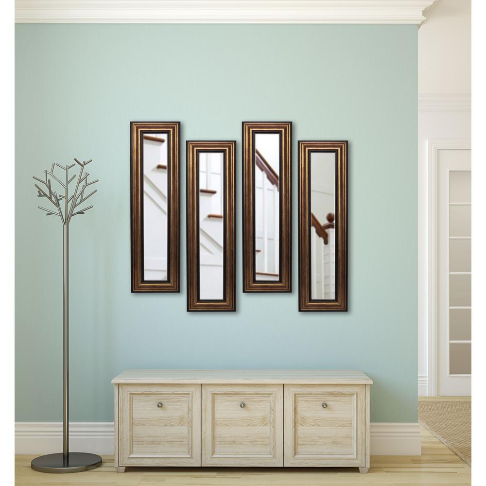 11.5 in. x 29.5 in. Canyon Bronze Vanity Mirror (Set of 4-Panels)