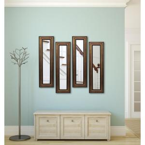 15 inch x 39.5 inch Canyon Bronze Vanity Mirror (Set of 4-Panels) by