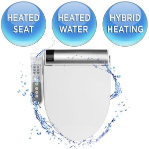 bioBidet Advanced Bliss Electric Bidet Seat for Elongated Toilets in White by bioBidet