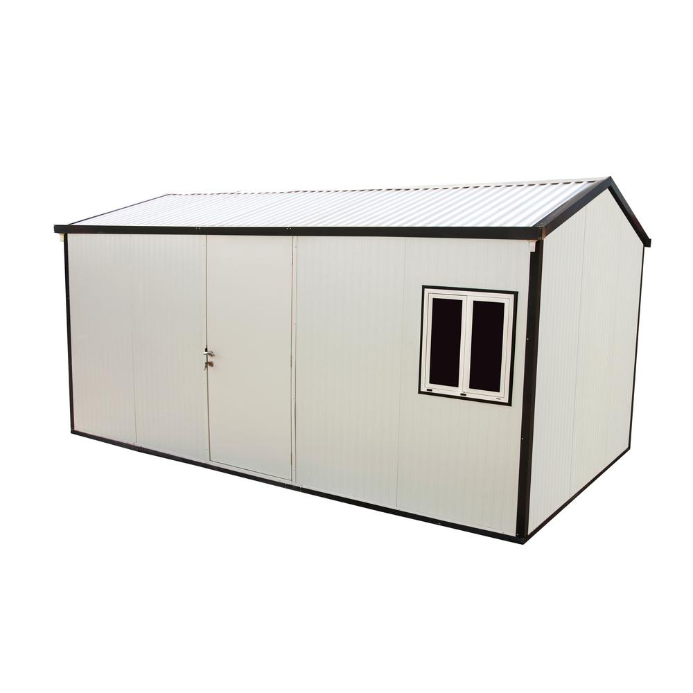 Duramax Building Products Gable Roof 16 ft. x 10 ft. Insulated Building Shed