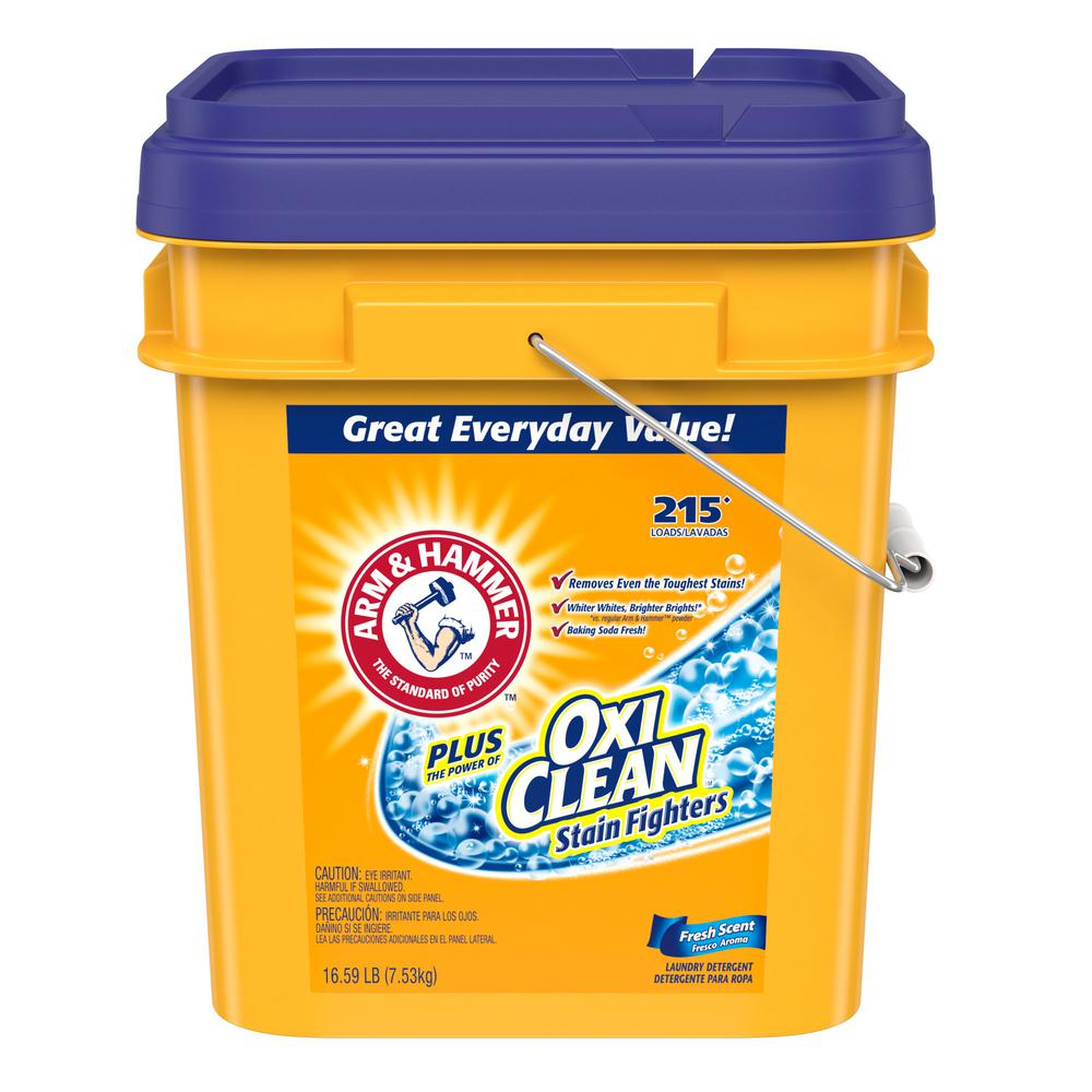 Is arm and hammer powder laundry detergent he - Arm Hammer 16 59 Lb Fresh Scent Laundry Detergent With Oxiclean 86527 The Home Depot