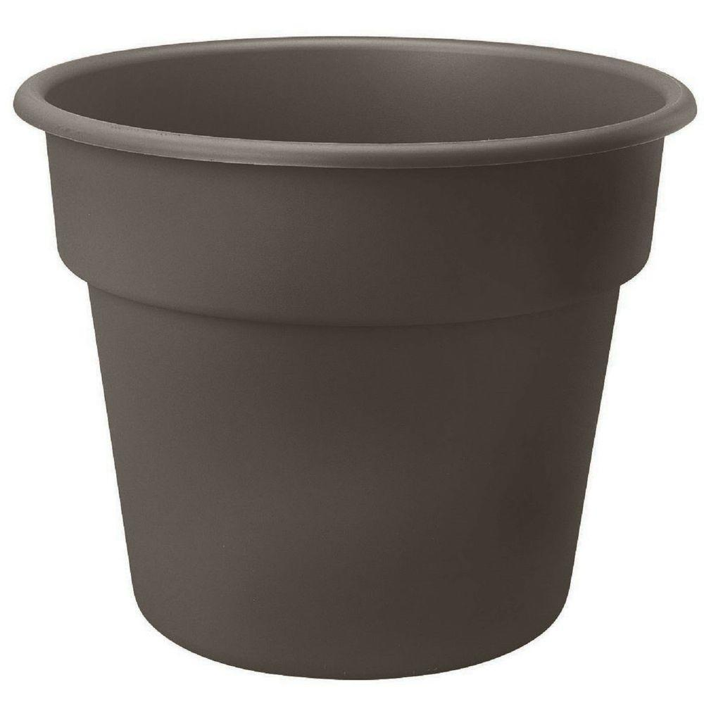12 x 10.5 Peppercorn Dura Cotta Plastic Planter