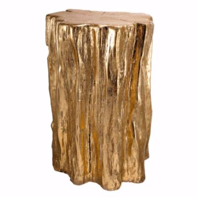 Well Designed 20 in. Gold Nature Inspired Tree Trunk Stool