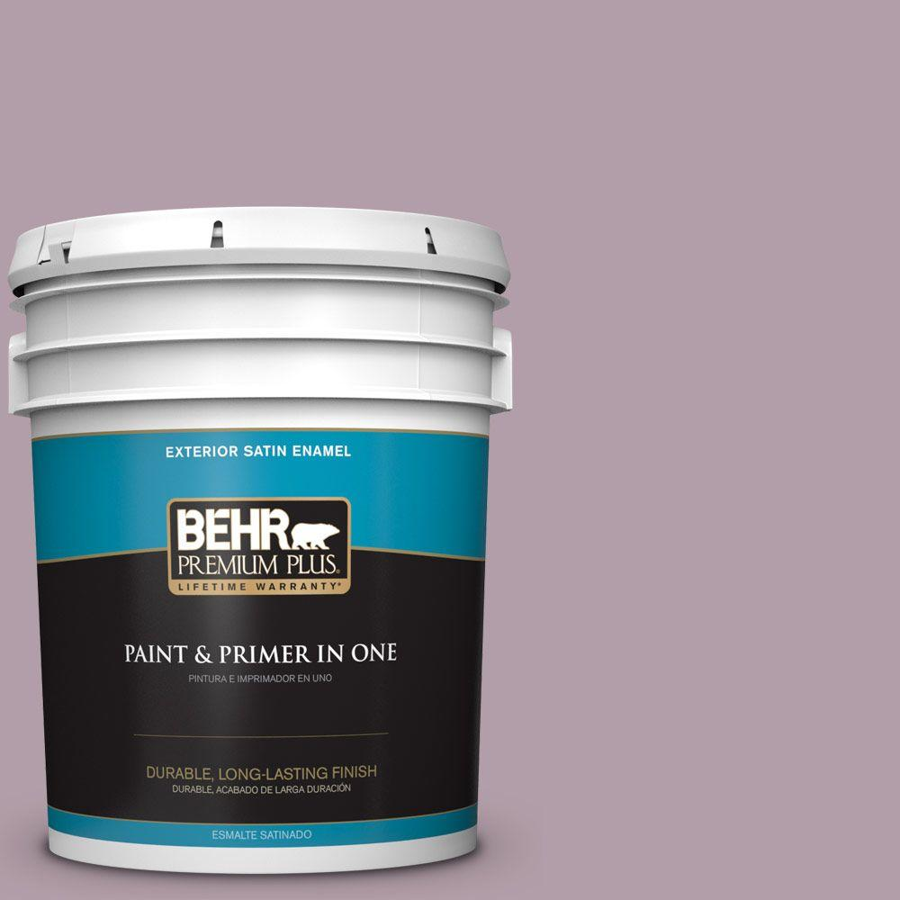 5-gal. #PMD-34 Wild Lilac Satin Enamel Exterior Paint