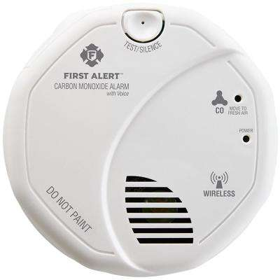 Wireless Interconnect Carbon Monoxide Detector with Voice Feature