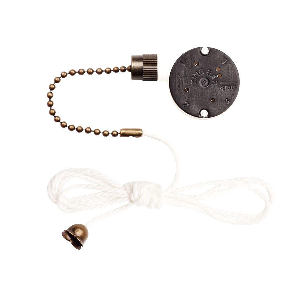 Ceiling fan pull chains ceiling fan parts the home depot antique brass replacement 3 speed fan switch aloadofball Gallery