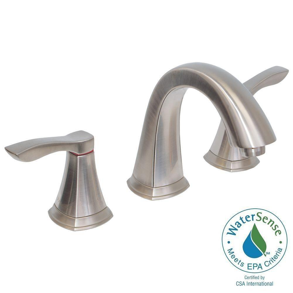 8 in. Widespread 2-Handle Bathroom Faucet in Brushed Nickel