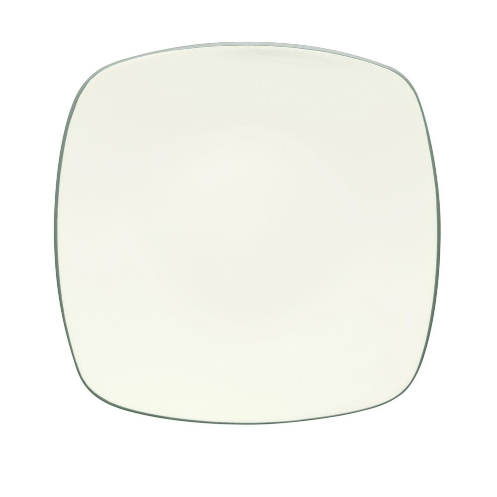 Colorwave 10.75 in. Green Square Dinner Plate