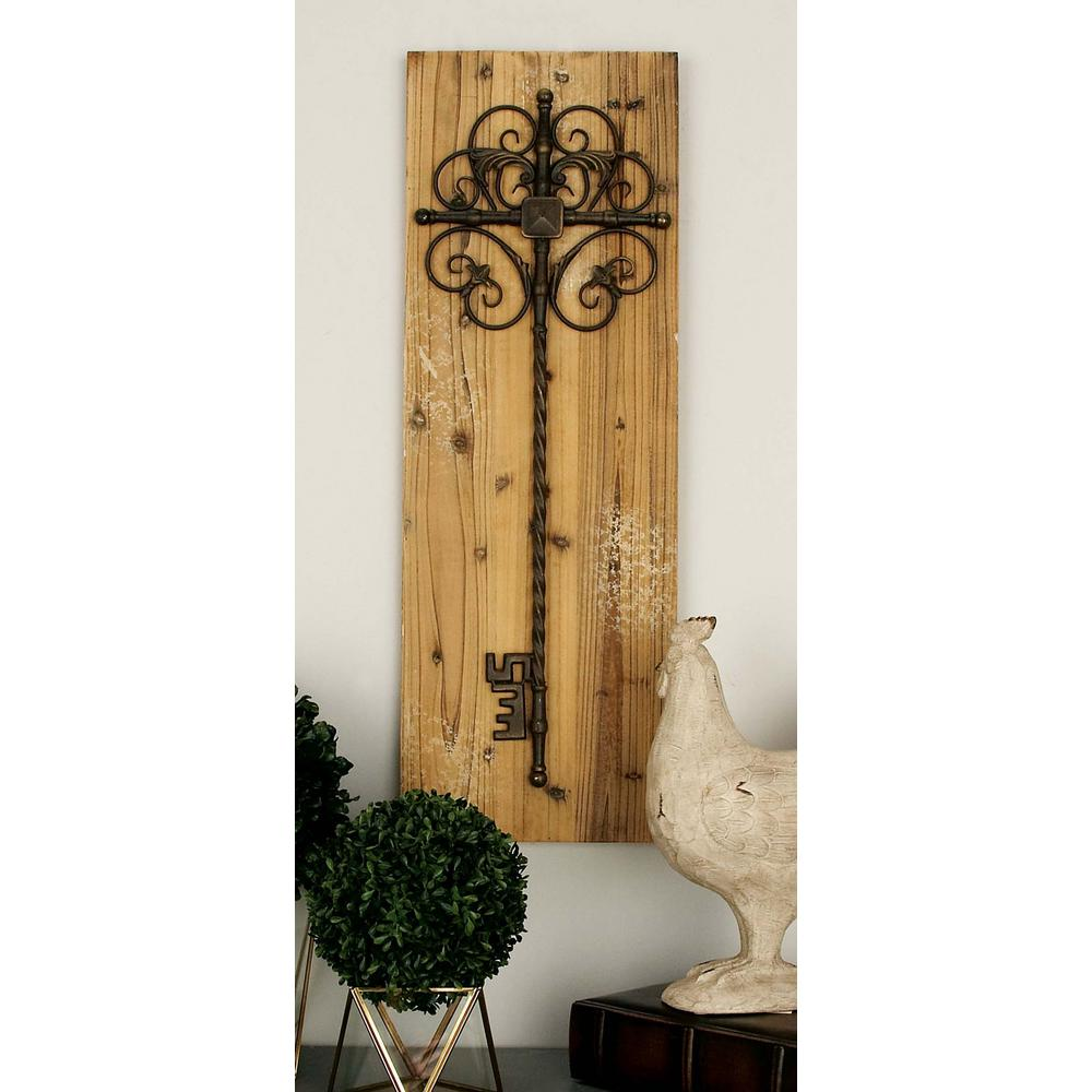 13 in. x 36 in. Classic Decorative Key Wall Plaque in