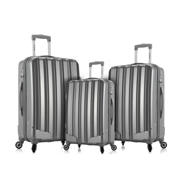 Rockland Luggage 20 Inch 28 Inch 2 Piece Expandable Spinner Set Silver One Size Fox Luggage F225