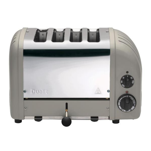 Dualit New Gen 4-Slice Shadow Wide Slot Toaster with Crumb Tray
