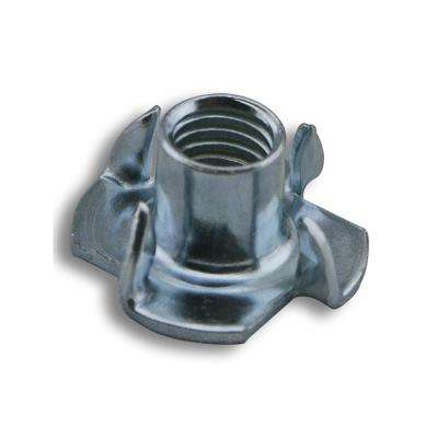 8 mm x 11 mm 4-Prong Zinc-Plated Tee Nut (100-Pack)