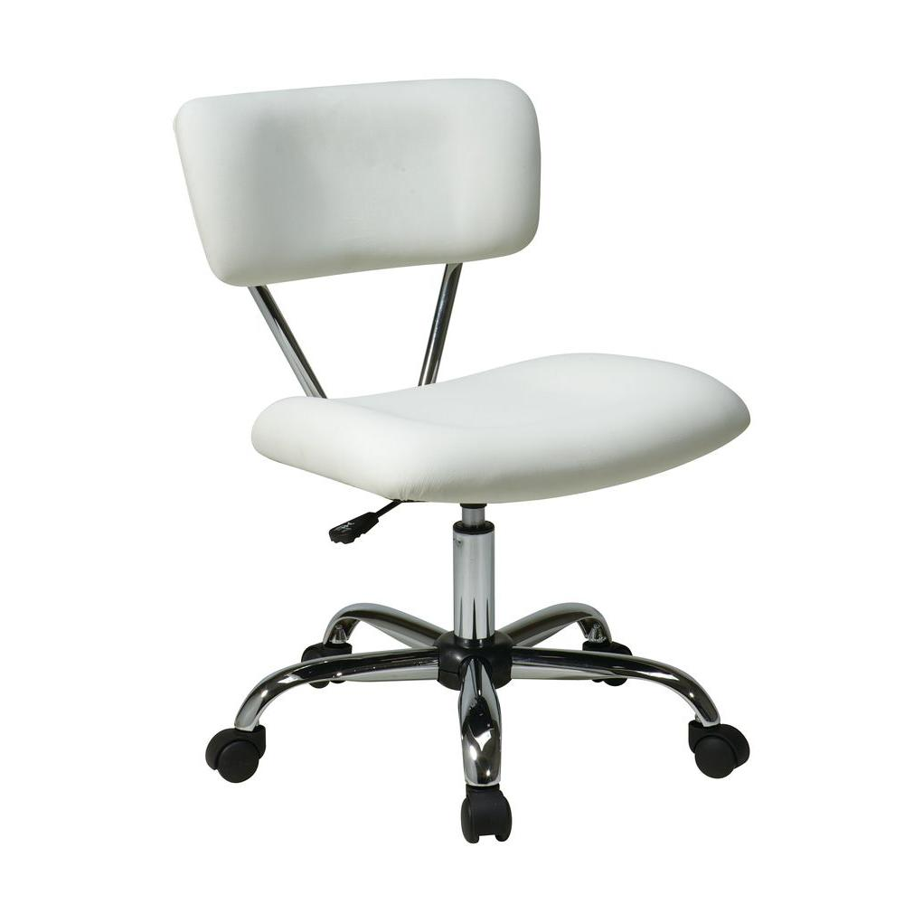 Ave Six Vista White Vinyl Office Chair