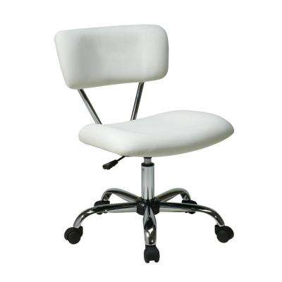 Vista White Vinyl Office Chair