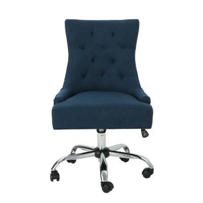 Americo Tufted Back Navy-Blue Fabric Home Office Desk Chair