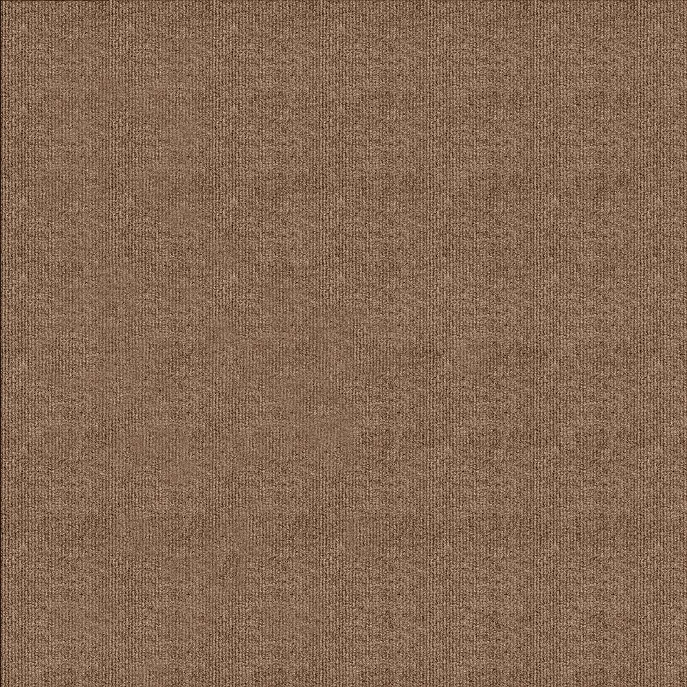 Chestnut Ribbed Texture 18 in. x 18 in. Carpet Tile (16 Tiles/Case)