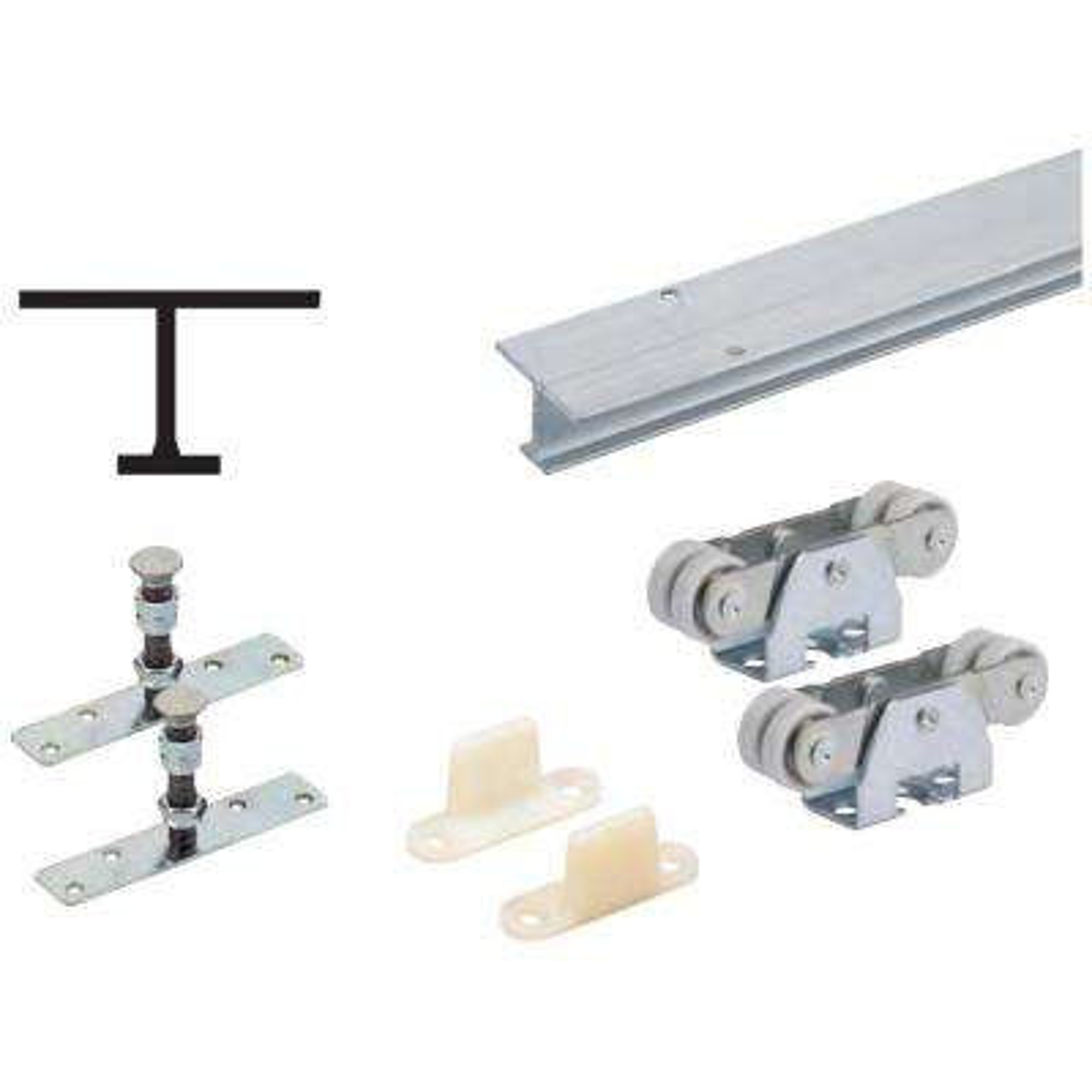 72 in. TopLine 71-222 Single Door Hardware and Track