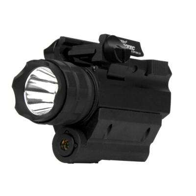 190-Lumen LED Firearm Flashlight and Red Laser Combo for Rail-Equipped Pistols and Long Guns