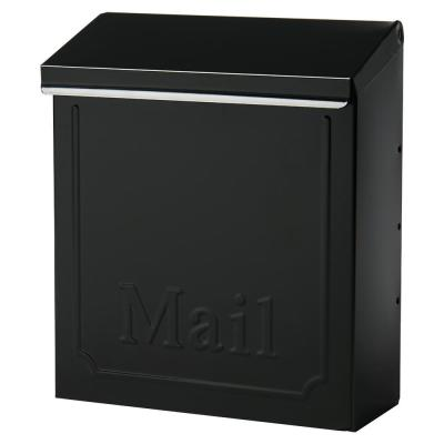 Townhouse Small, Vertical, Locking, Steel, Wall Mount Mailbox, Black