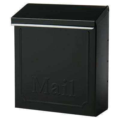 Townhouse Medium, Vertical, Locking, Steel, Wall Mount Mailbox, Black