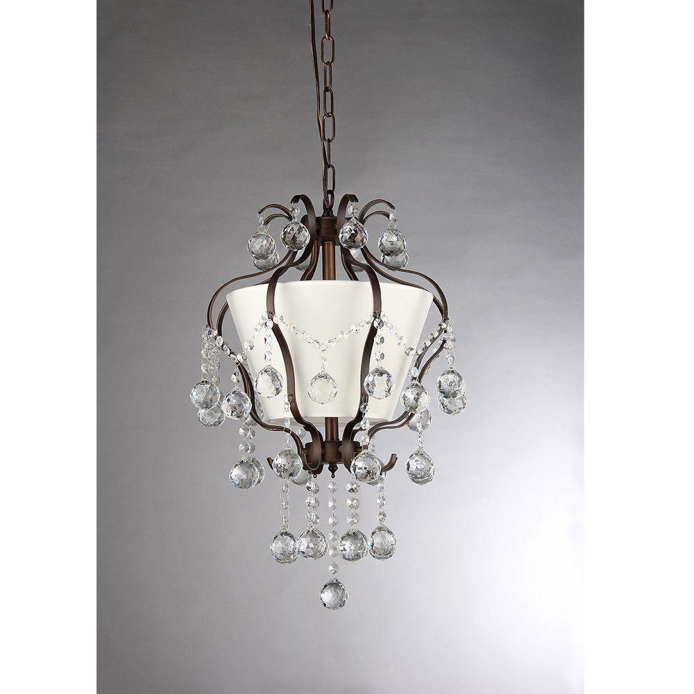 Warehouse of Tiffany Stacey 4-Light Antique Bronze Chandelier with Shade
