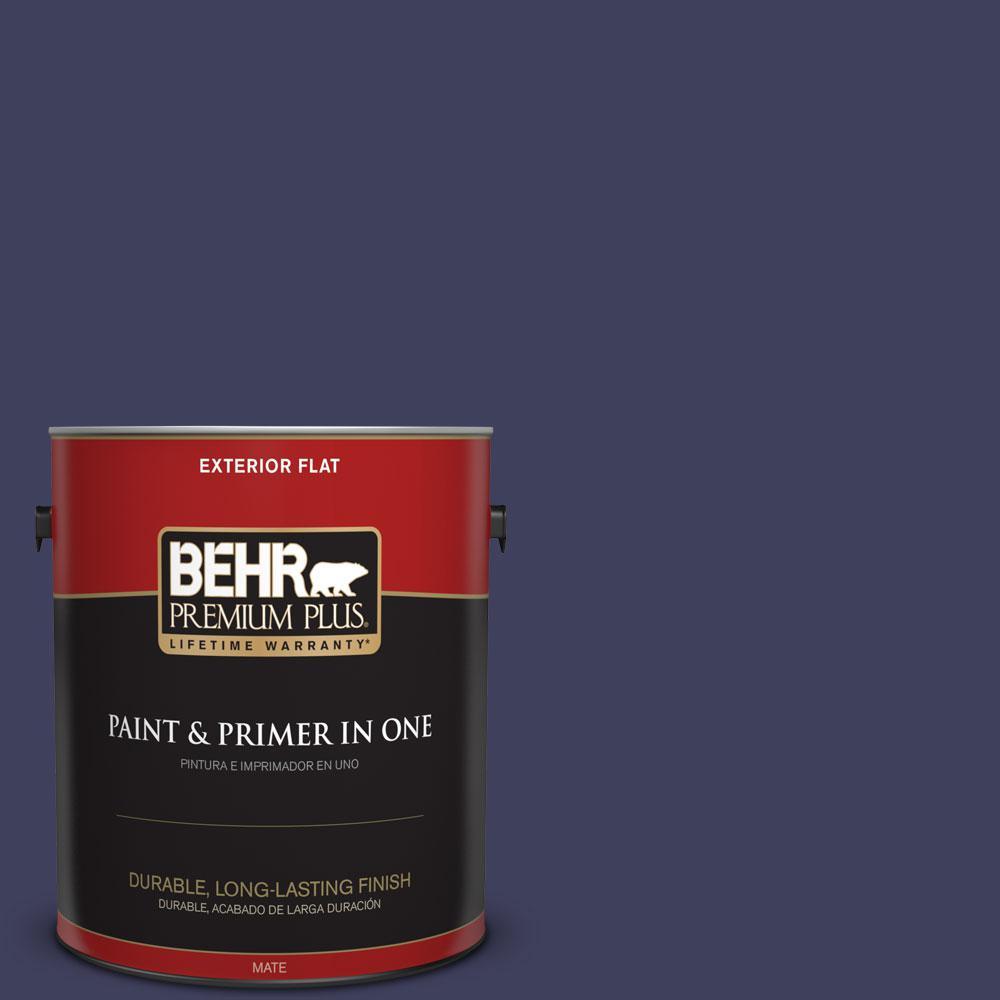 BEHR Premium Plus 1-gal. #S-H-630 Lunar Eclipse Flat Exterior Paint