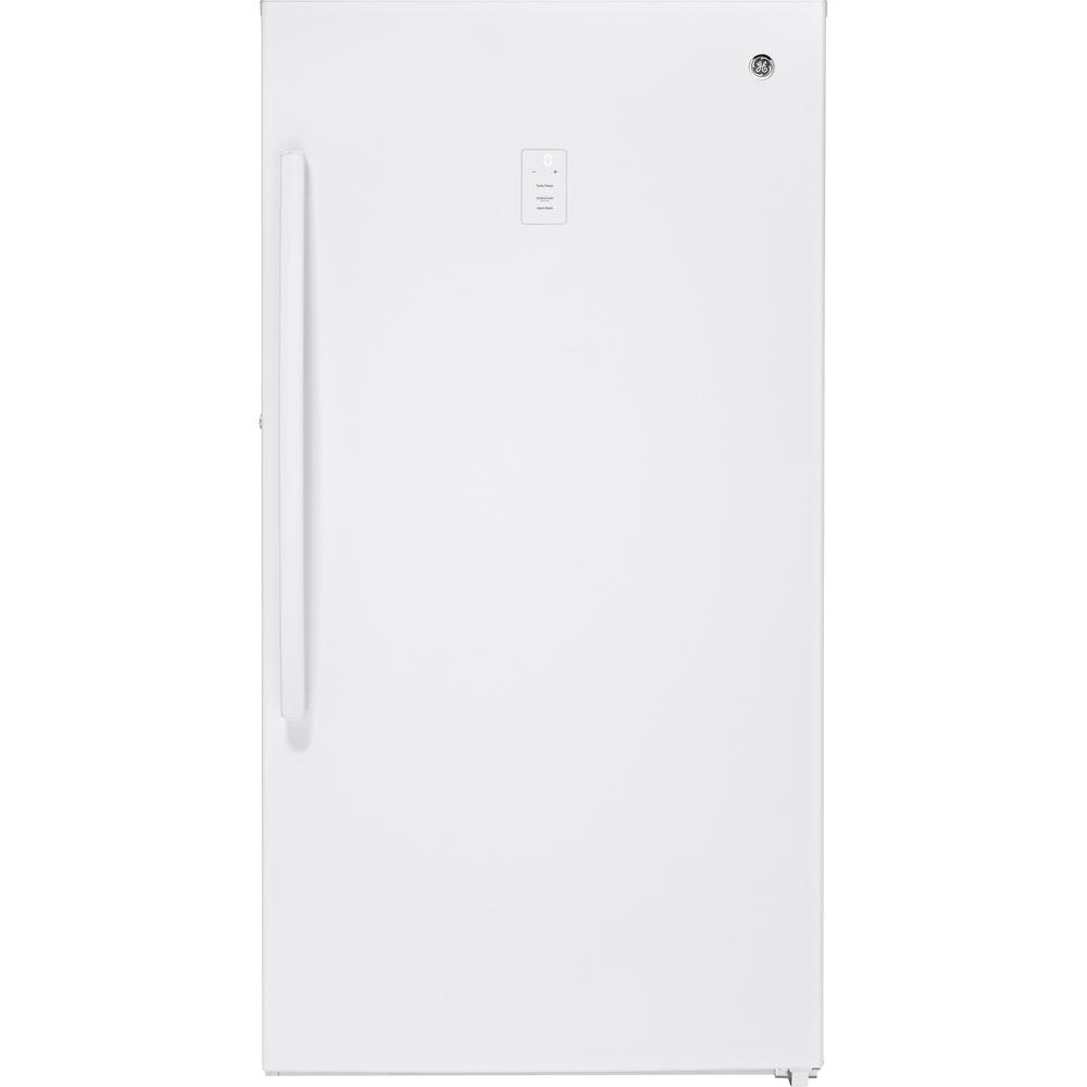 GE 17.3 cu. ft. Frost Free Upright Freezer in White