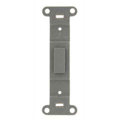 Plastic Wallplate Adapter; Blank Toggle No Hole, Gray