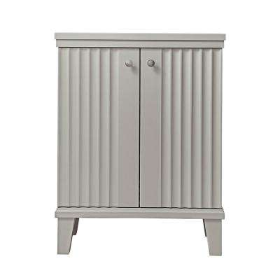 Parker 26.56 in. W x 14.19 in. D x 34.50 in. H Double Door Small Side Unit in Bedford Grey