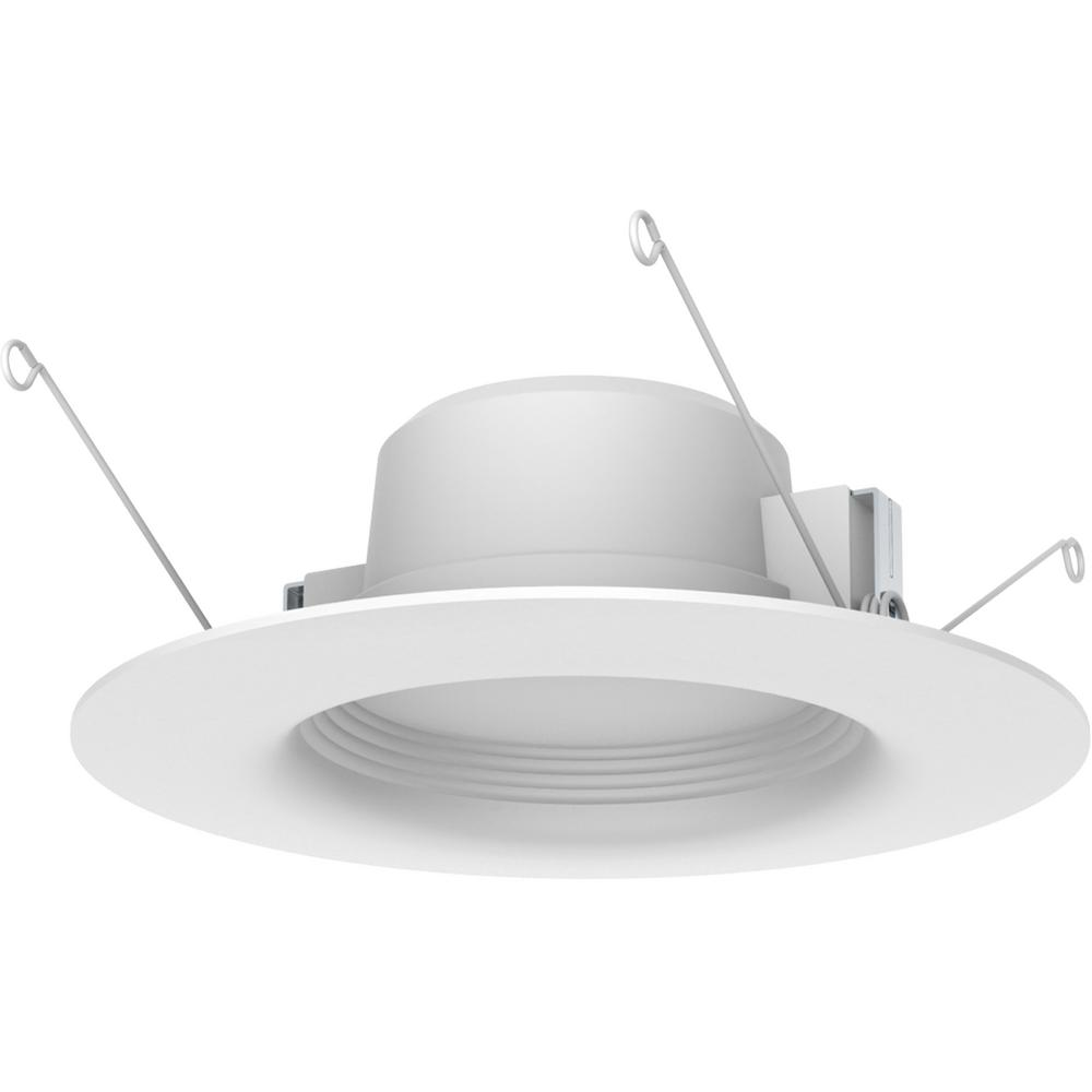5 in. and 6 in White Integrated LED Recessed Trim (3-Pack)